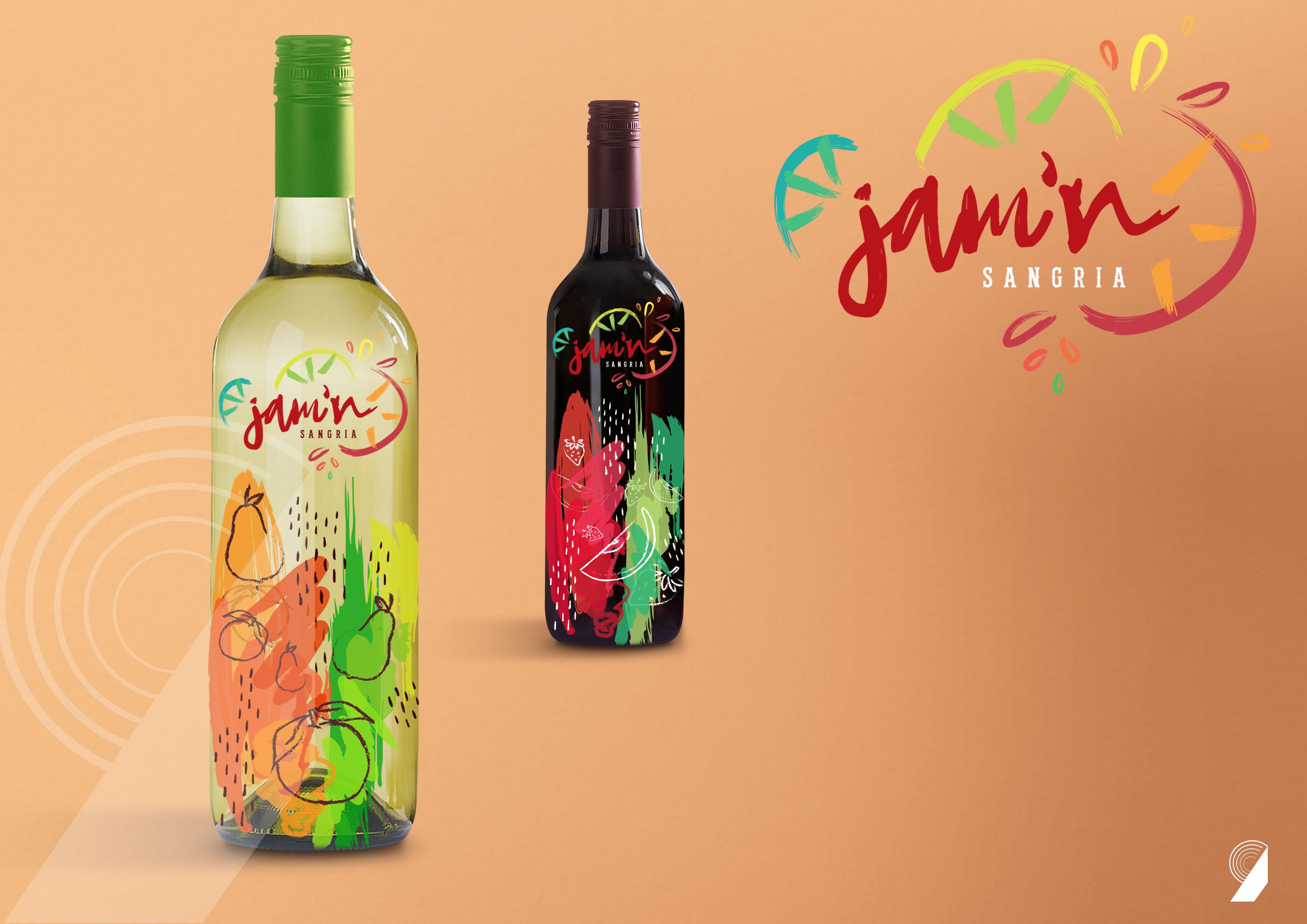 Jamn Sangria Red & White Wine Label Design