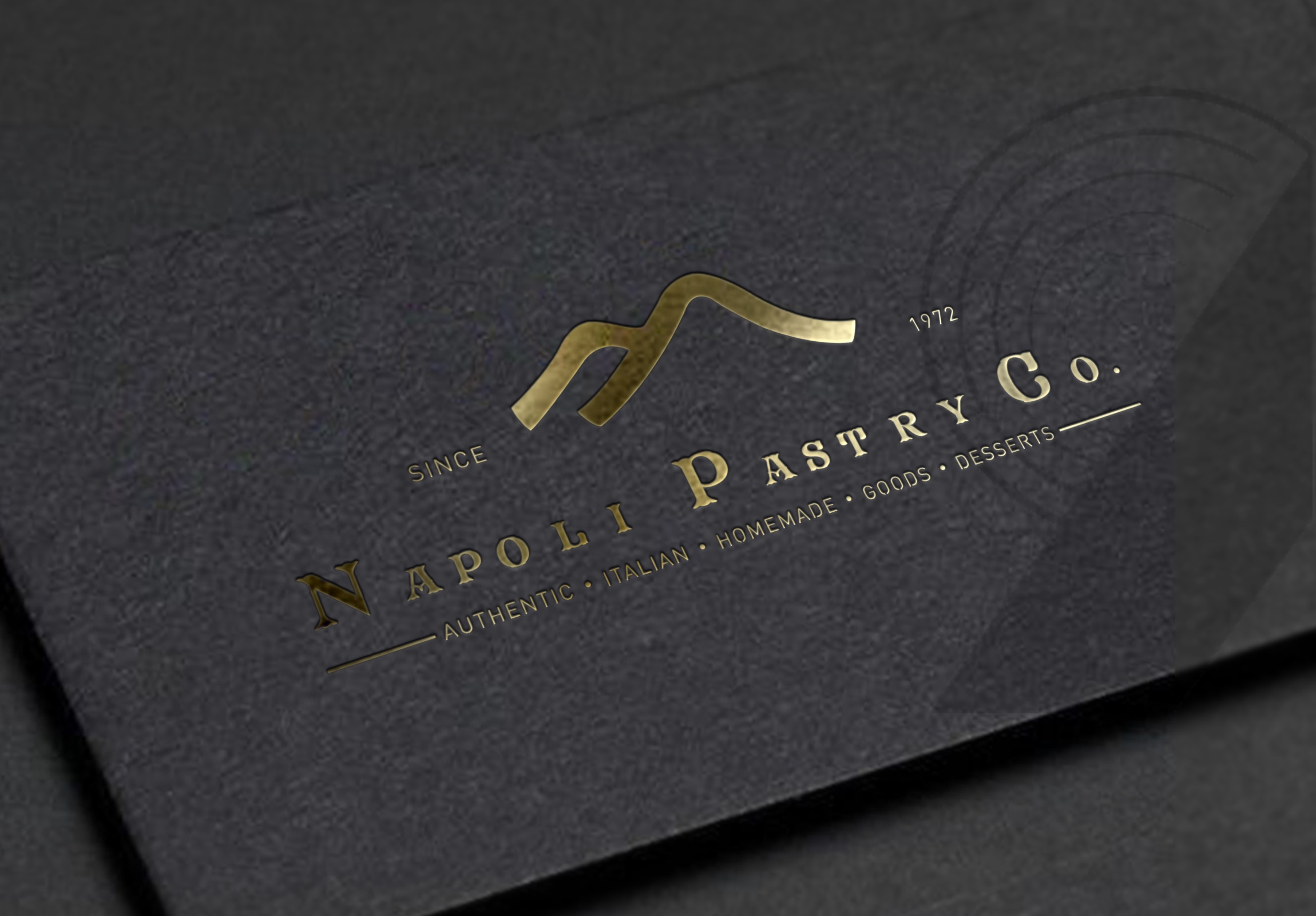 Cafe Napoli's Napoli Pastry Co Manhattan New York City Logo Design Branding