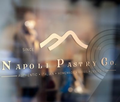 Cafe Napoli's Napoli Pastry Co Manhattan New York City Logo Design Branding